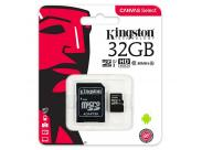 Kingston Sdcs/32Gb Micro Sdhc 32Gb Clase 10 Uhs-I 80R Canvas Select + Adaptador Sd