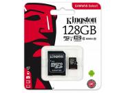 Kingston Sdcs/128Gb Micro Sdxc 128Gb Clase 10 Uhs-I 80R Canvas Select + Adaptador Sd